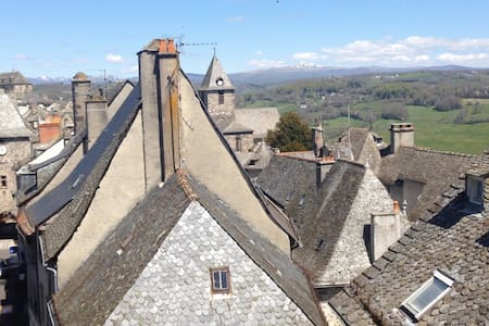Maison de ville T4 dans bourg médiéval - Mur-de-Barrez - 連棟房屋