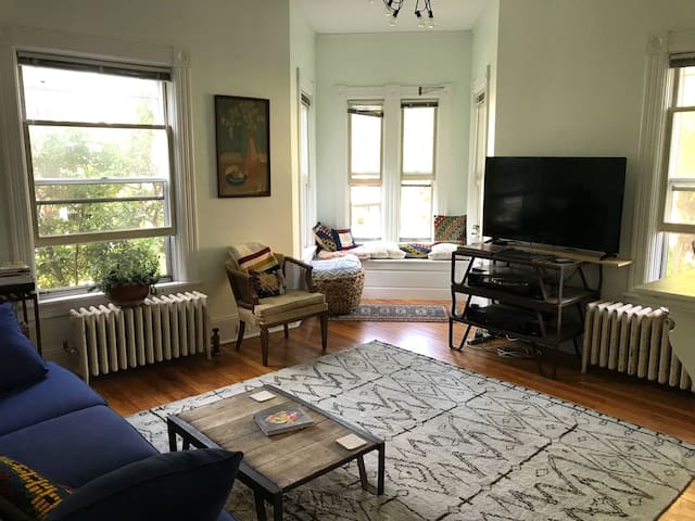 Artful 1870s Victorian Just Steps from Downtown
