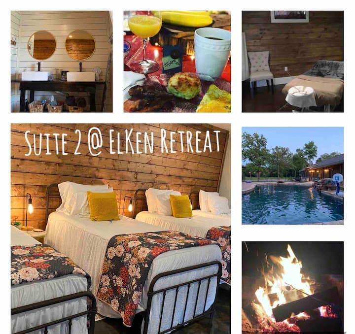 ElKen Retreat B&BPrivate suite2 $Massage Breakfast