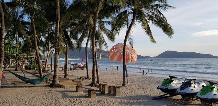 ♫ C The room patong king bed➳8 min walk to beach ♫