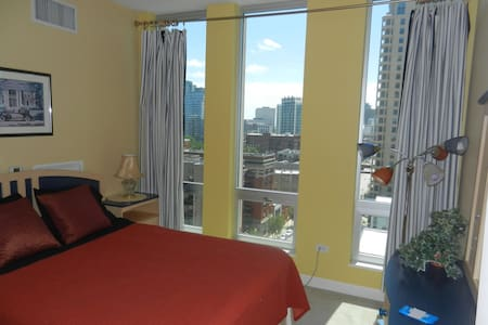 CUTE 2 BD, lake view, 1.5 miles to McCormick Pl!