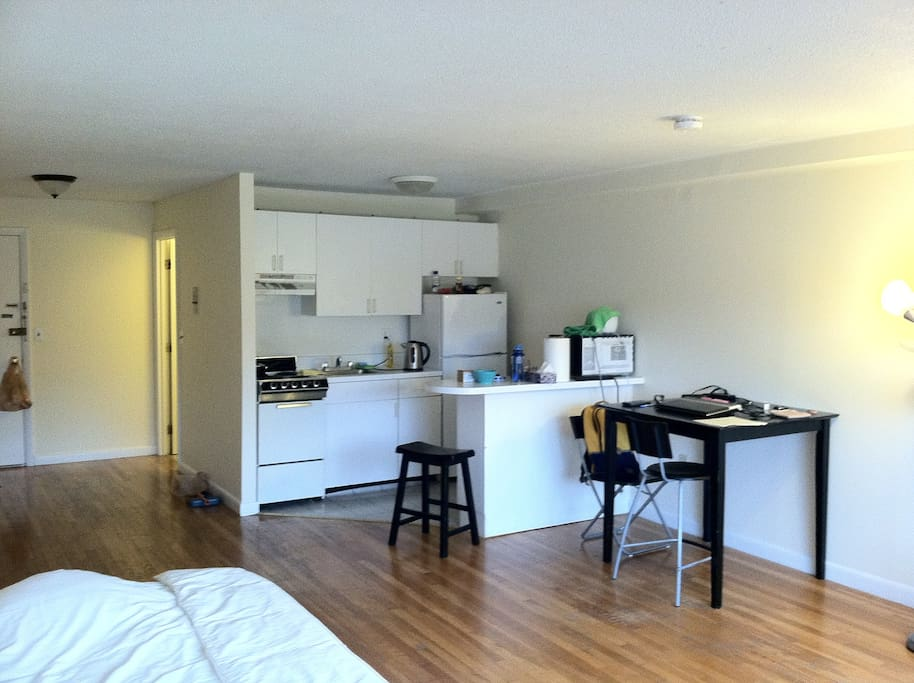 Semi-furnished BIG studio + kitchen