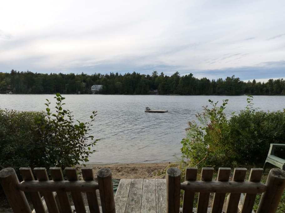 View from private lake access