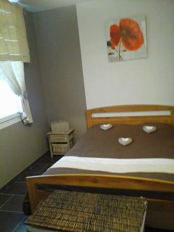 Chambre de 11m2 avec placard. Possibilité de mettre un lit parapluie. Matelas enfant à disposition.