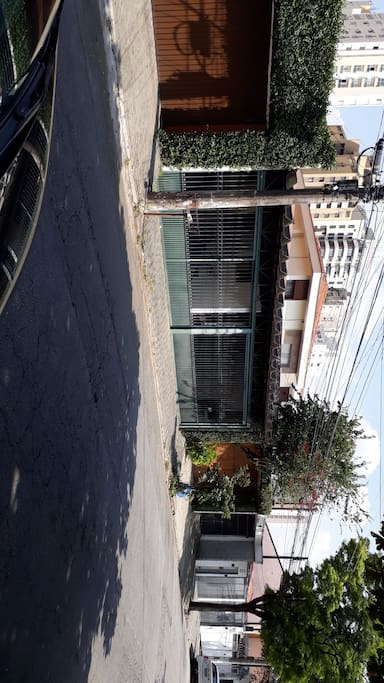 fachada da casa  10m de frente