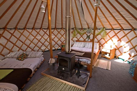 Glamping at Skye Yurts- Earth Yurt