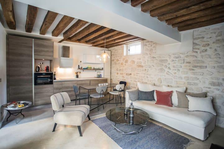 Charming flat in the Marais