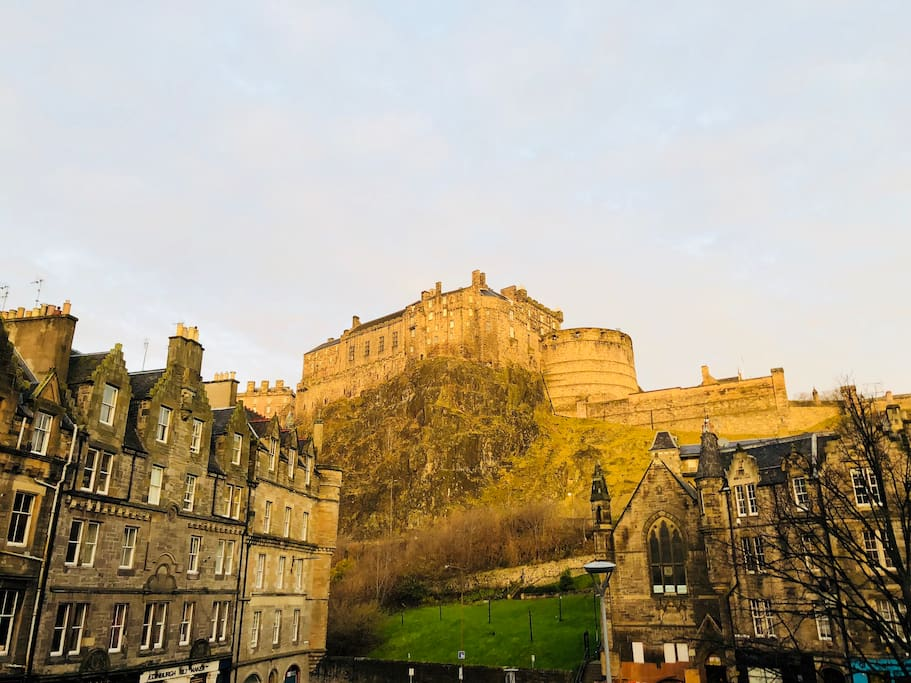 View of Edinburgh Castle from the Lounge