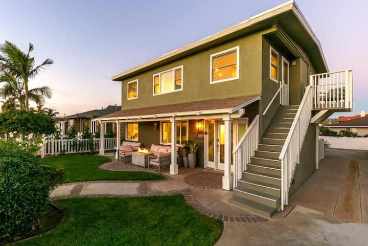 Beautiful Unobstructed Ocean View Beach Home + Walk to Water