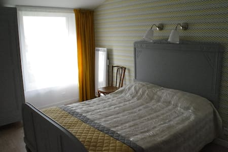 Chambre confortable avec espace de jour convivial - Feyzin - Guesthouse