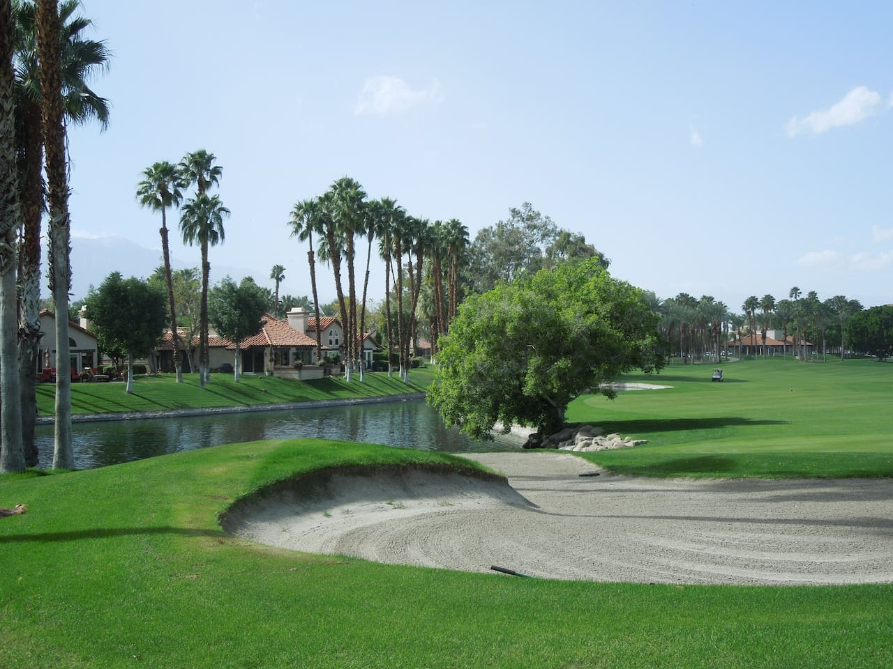 View of the golf course from the main entrance.