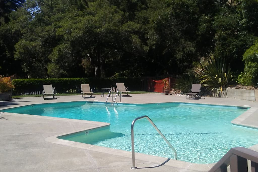 private gated pool for townhouse community, which we will provide you the key to.