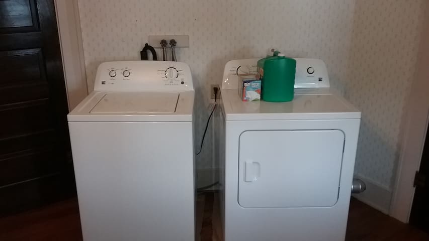 Washer and Dryer On Site At No Extra Charge Complete With Laundry Soap