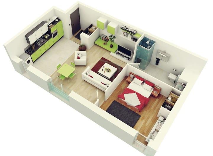 Oceanside studio apartment
