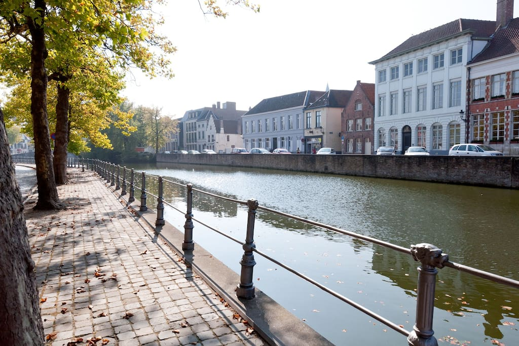The view alongside the canal