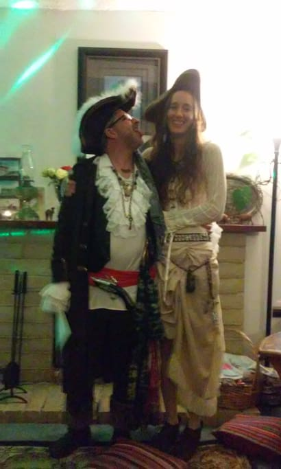 Your Hosts Capn Wolf Ears and Empress Roberta.