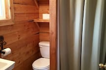 Private bathroom in Shower House