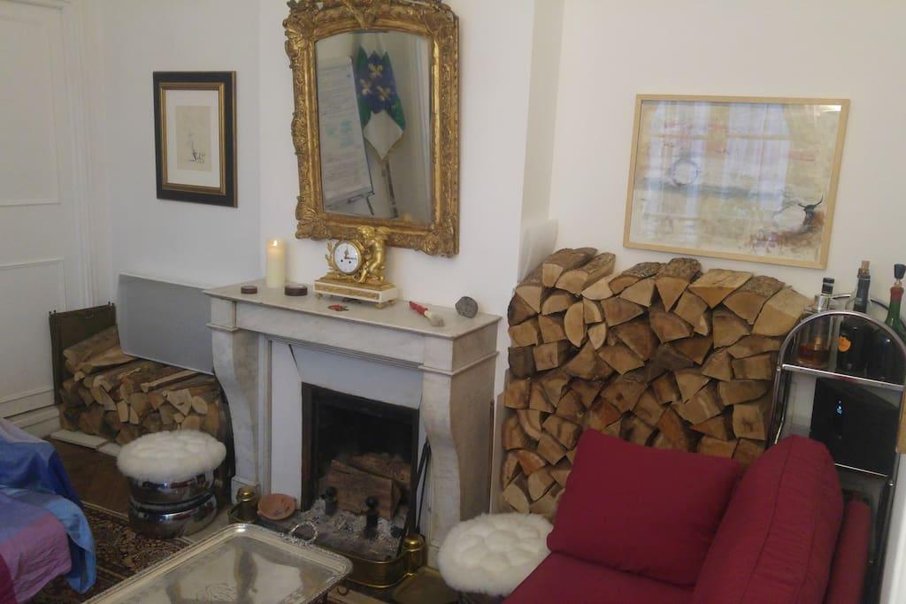 Salon (vue de la chambre)