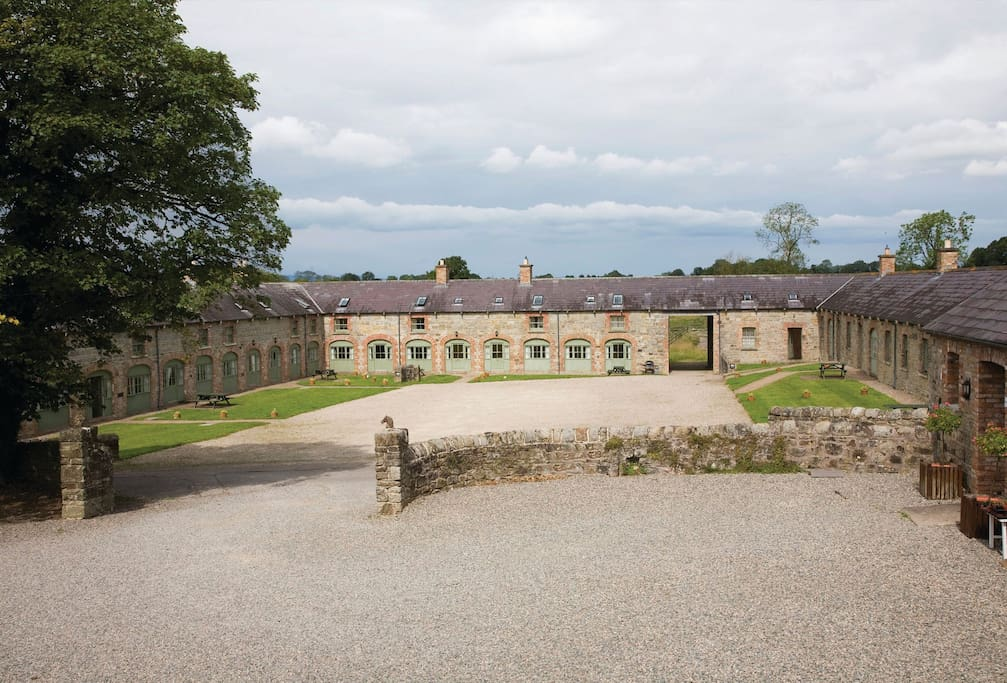 Built in 1856 to shelter the Castle's coaches and horses