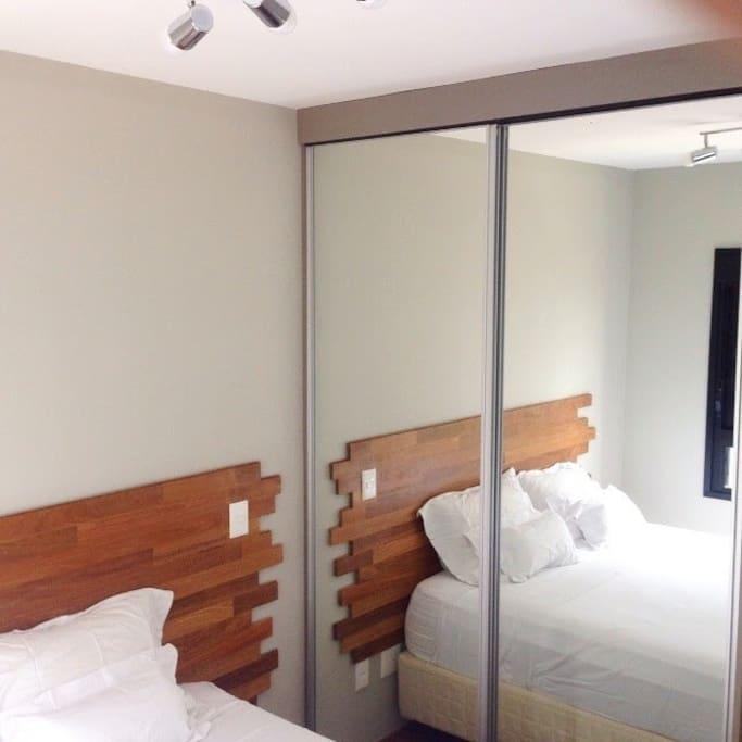 Armario completo e ar condicionado em todos os quartos