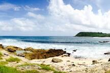 spot de surf d'anse sallabouelle tout proche de la maison