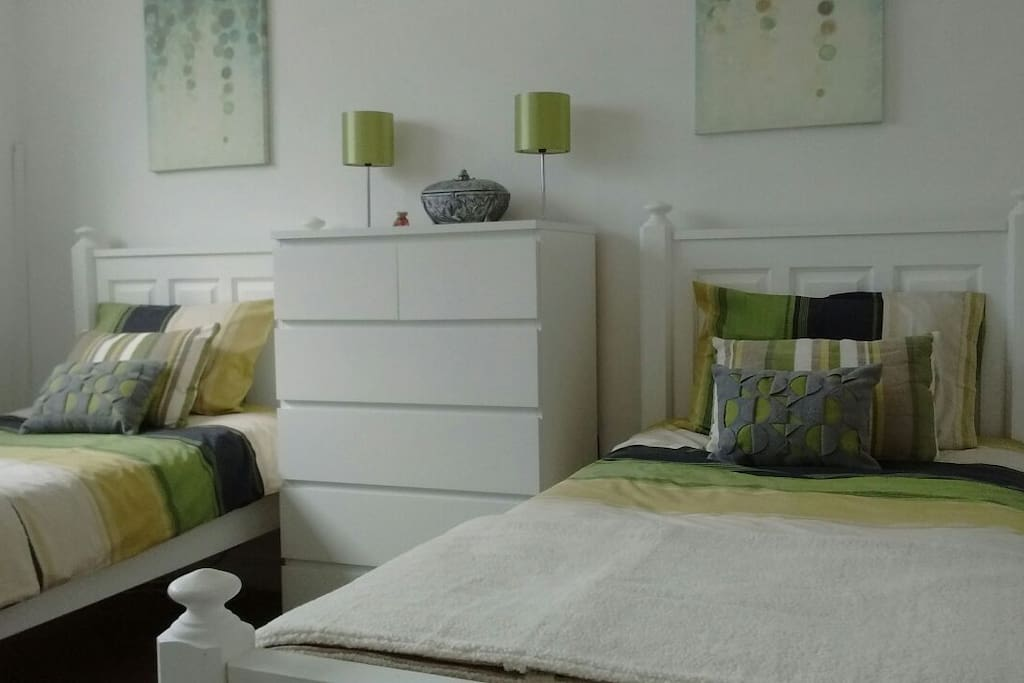 Bright airy double height bedroom