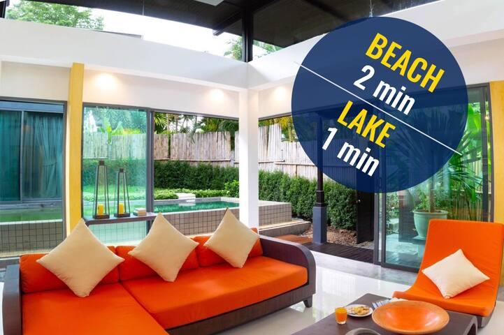 ✅Love Layan Luxury villa 2 min to the beach