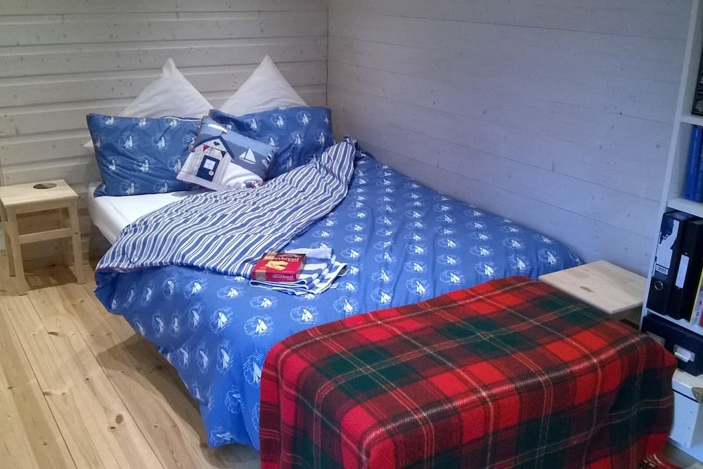 comfortable double bed in your cabin