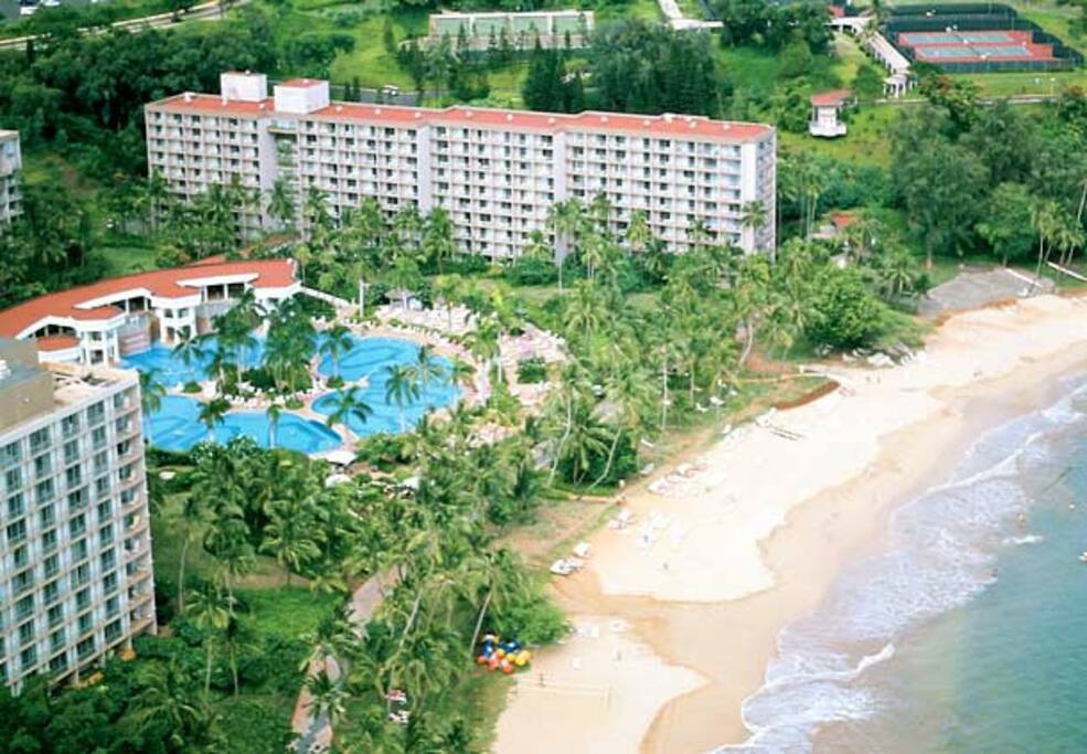 Arial View of Resort and Beach