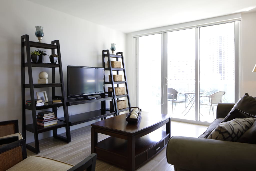 Cable and Antenna TV in living room