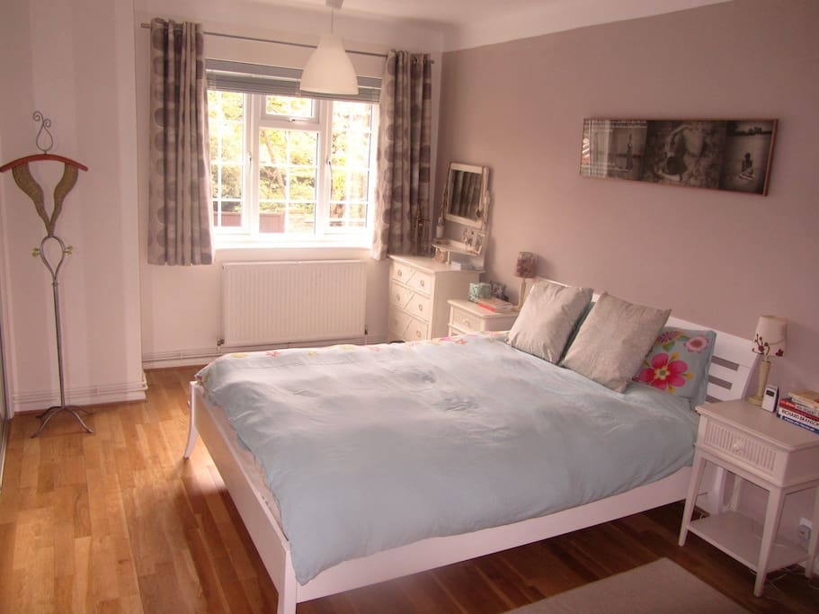 Master bedroom with double glazed windows for a great quiet night sleep