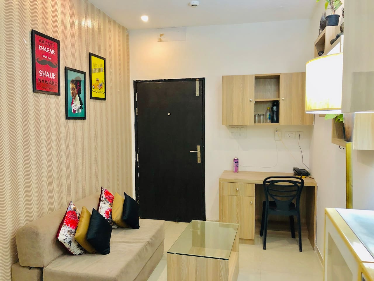 Welcome to the most affordable yet elegant homestay at Noida, 9 km from Great India Place & Worlds of Wonder & 10 Mins drive from Noida Expo Centre, our guests get benefit from complimentary WiFi, Kitchenette, Balcony, Attached bathroom with Bedroom