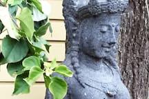 A Balinese statue...