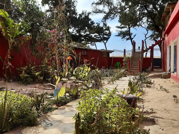 Rez de jardin de la plage