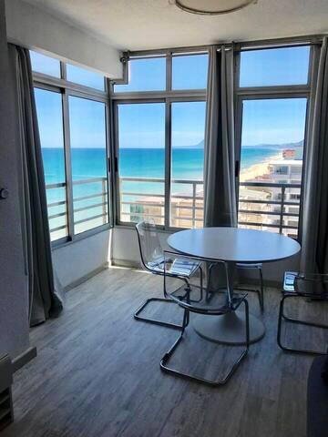 Apartamento estudio primera línea de playa