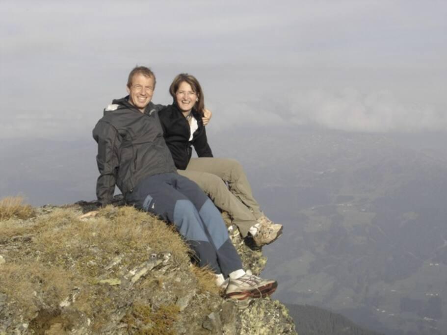 Ihre Gastgeber Christian und Marianne Kröll