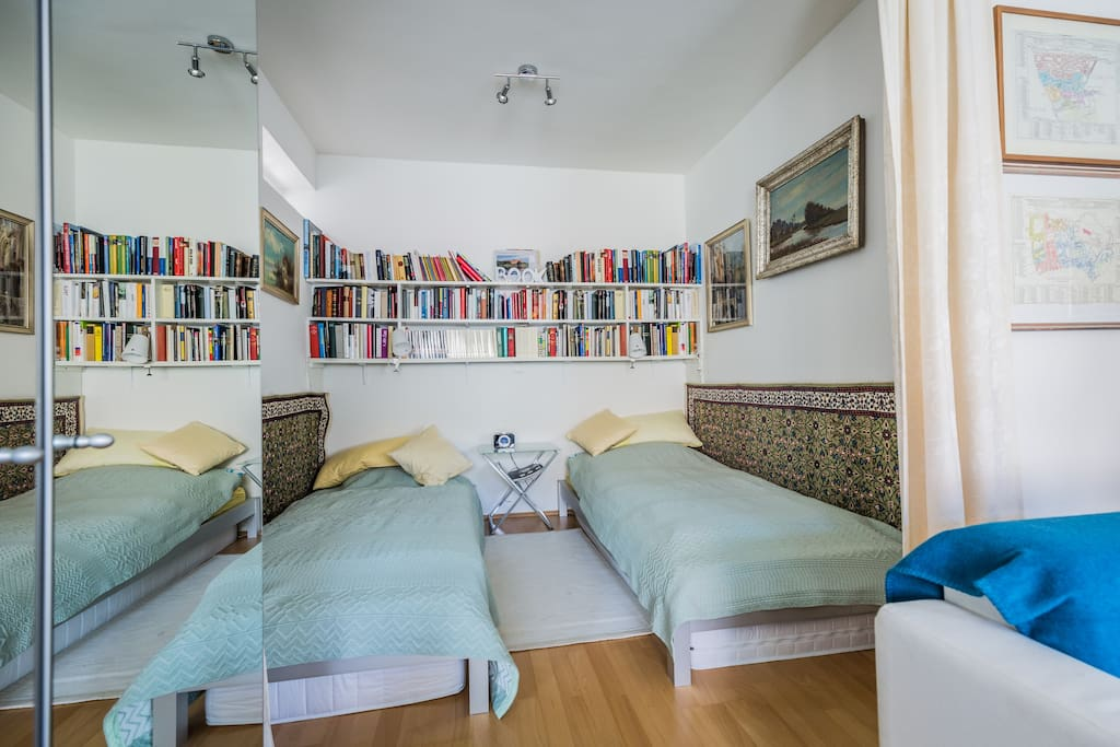 The Bedroom: Two single's or one double bed