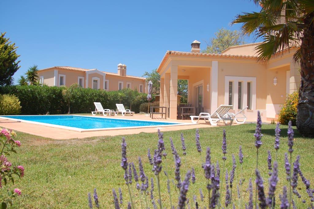 jardin , piscine, terrasse