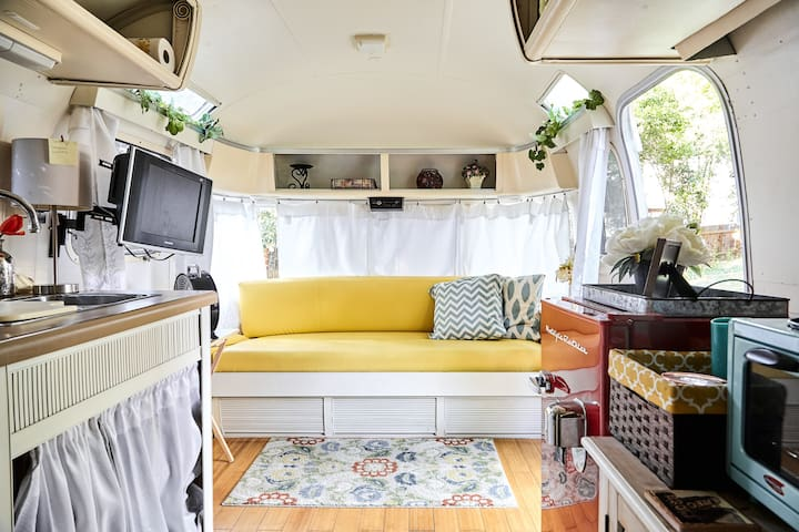 Cozy Up in a Vintage Airstream in Barton Springs