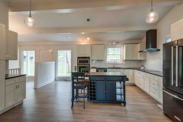 Very large fully equipped kitchen with LG stainless steel appliances, dishes, utensils, coffee station and more!