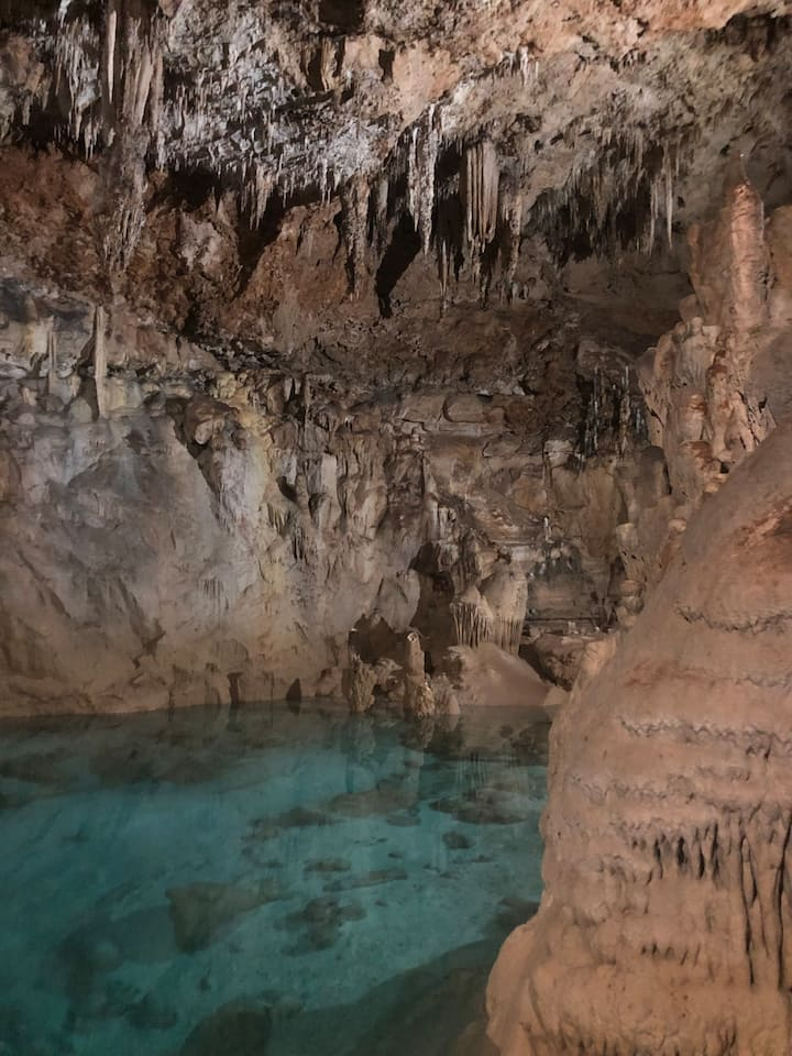 Crystal clear water caves
