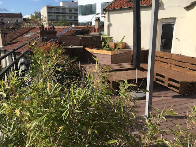 Flat with terrasse in montrouge - Montrouge - Appartement