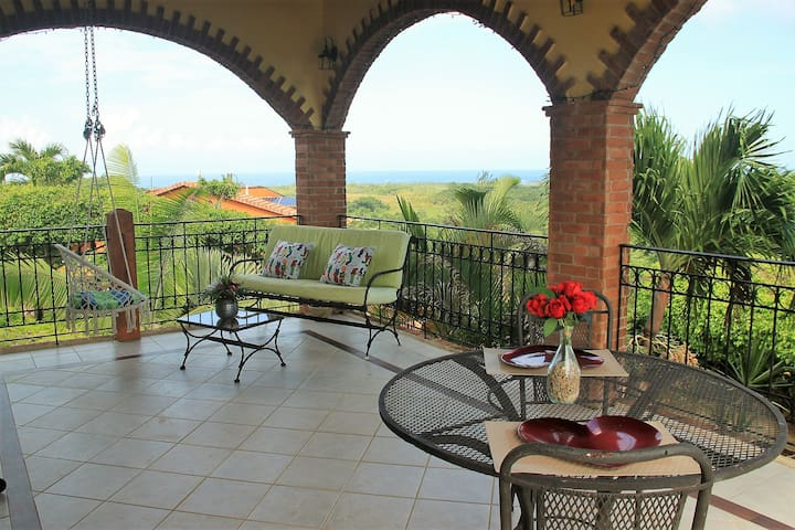 Very private dinning and living areas of terrace with both ocean and mountain views