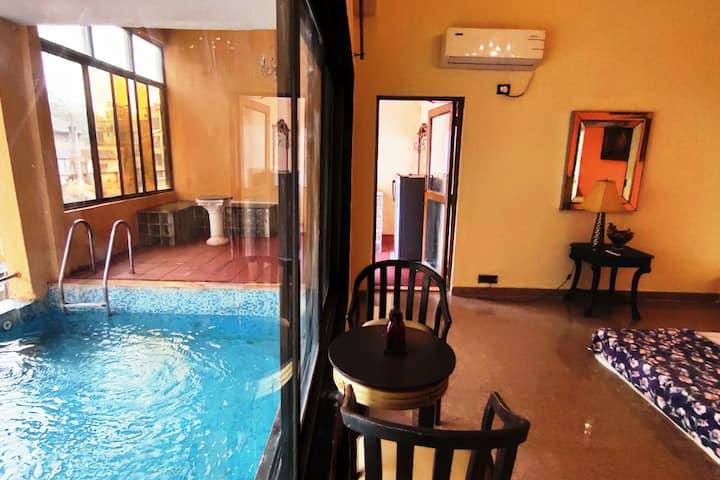 Luxury villa ,3bhk,pool,bar,and fairylight garden