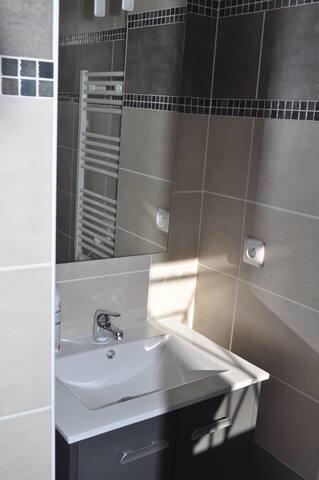 salle d'eau attenante à la chambre 1