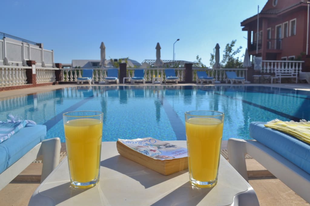 Relax by the huge pool!