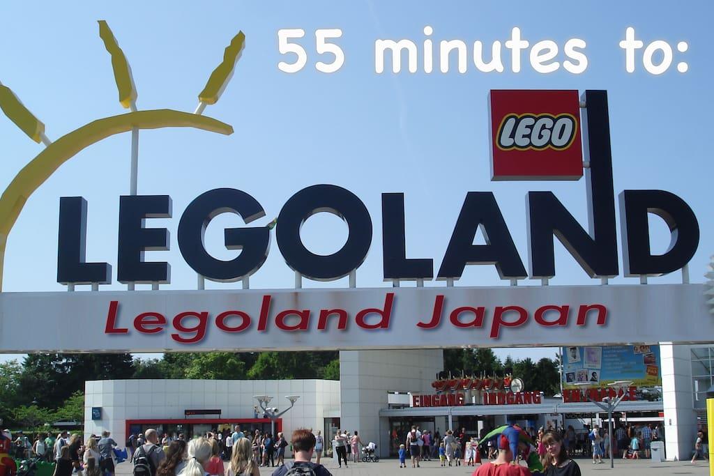 Bus/Subway 55 minutes to LEGOLAND. レゴランドまで55分!