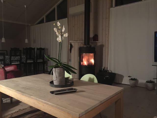 Winter cozy fire