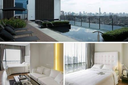 Top Luxury & Modern, Rooftop Pool, WiFi, MRT, Gym - Bangkok