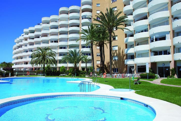 Nice studio with pool & close to the beach